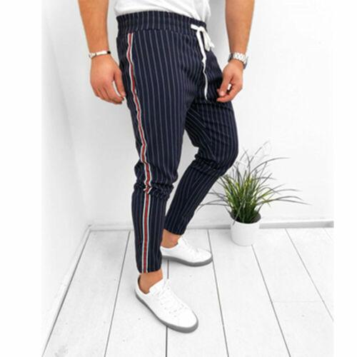 Men Casual Sport Pants Long Trousers Tracksuit Fitness Workout Joggers Sweatpant