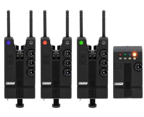 MAD Hi-T Bite-Alarm Set 3+1 Blue//Red//Green