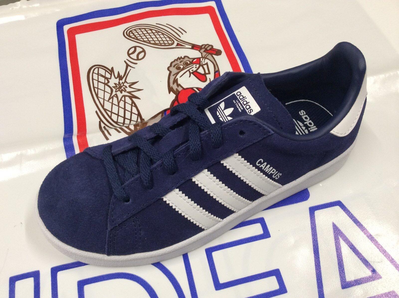 size 40 314c5 e9653 Adidas Originals Campus Blu scuro Pelle scamosciata Gioventù Formatori  Scarpe 38.6 EU   Acquisti Online su eBay