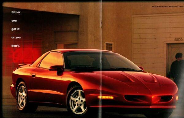 1997 Pontiac Firebird Brochure W/tabella Colore: Trans-am Formula Convertible Quell Summer Thirst