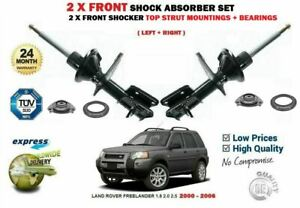 FOR LAND ROVER FREELANDER 2000-2006 2X FRONT SHOCK ABSORBER + TOP MOUNTINGS SET