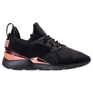 puma metallic sneakers rose gold