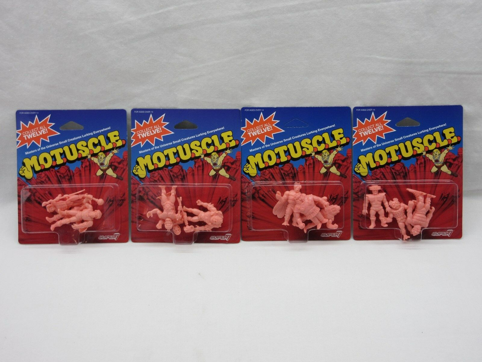 MOTU,M.O.T.U.S.C.L.E. MOC,SDCC Comic Con,Super 7, 12 figures lot,sealed,He Man