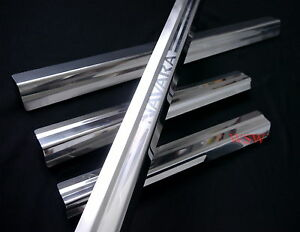 FOR-NISSAN-NAVARA-D40-05-13-4DOORS-SILL-SCUFF-PLATE-STAINLESS-STEEL-CHROME-STYLE