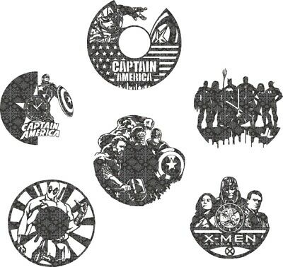 Captain American Clock Cutting File DXF CDR File For CNC Plasma Laser Cut