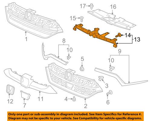 HONDA OEM 17-18 CR-V Front Bumper Grille Grill-Upper Support 71127TLAA00