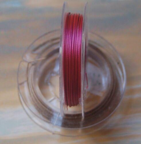 10 Meter Schmuckdraht Tigertail Edelstahldraht Edelstahlseide 0,45 0,38 mm Farbe