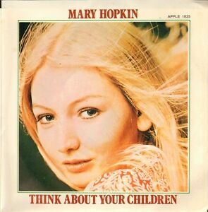 MARY-HOPKIN-Think-About-Your-Children-APPLE-1970-VINYL-SINGLE-7-034-US-PS