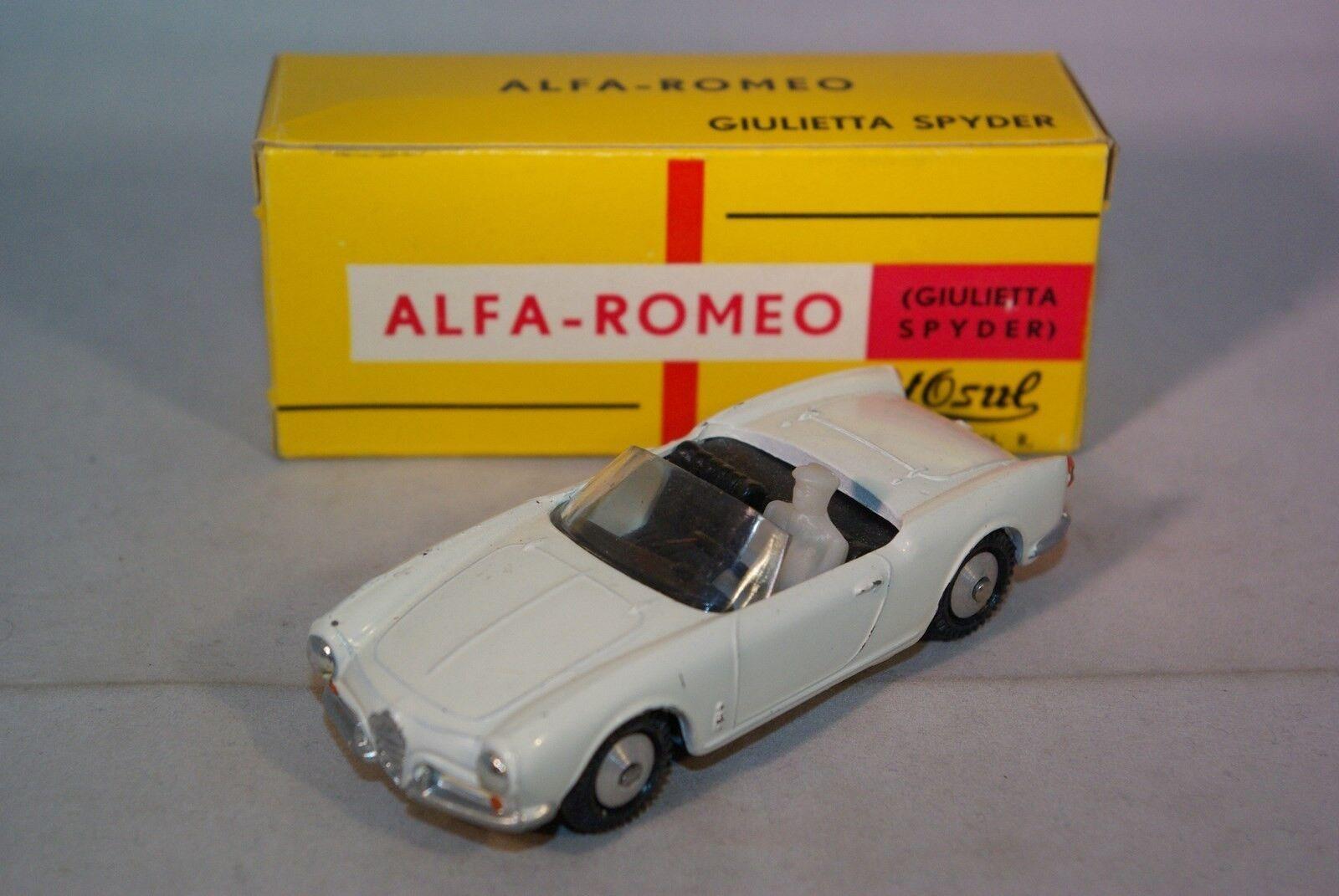 METOSUL 3 3 3 ALFA ROMEO GIULIETTA SPYDER WHITE NEAR MINT BOXED RARE SELTEN  b2deb2