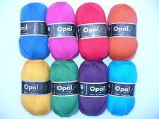 8 x 100 gr. Sockenwolle/Strumpfwolle Opal Uni 4-fach