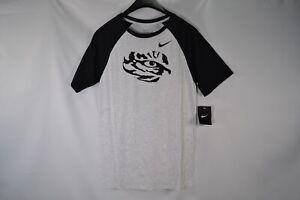 6d0d18e37 Men's Nike NCAA Louisiana State University LSU Tigers Light Grey ...