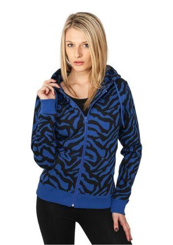 Urban Classics Damen Zebra Kapuzensweatshirt Kapuzen Sweatjacke Sweatshirt
