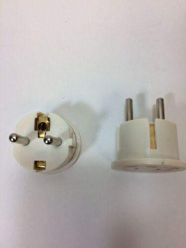 American To European Schuko Plug Adapter US USA to Europe EU Converter Charger