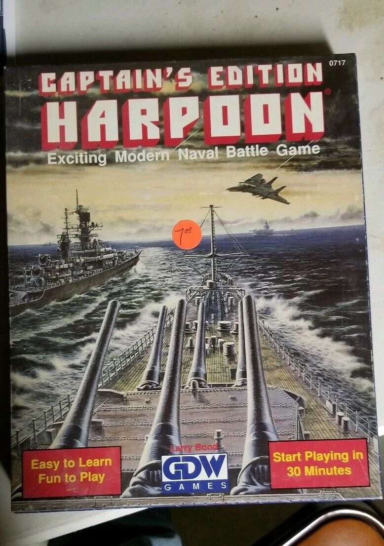 Captain's Edition Harpoon Exciting Modern Naval Battle Game GDW Played Once