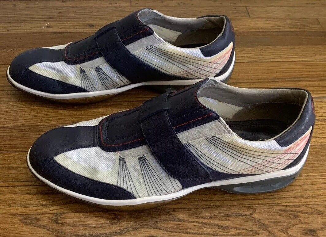 RARE COLE HAAN NikeAir FlyWire Sangle Sur Bleu Nylon Chaussures en cuir homme 7.5 M excellent état utilisé