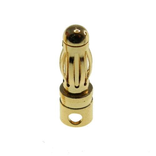 RC Gold Kugel Konnektor 3//3.5//4// 5//5.5//6// 6.5//7//8 Mm Alle Größen 2