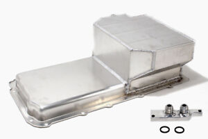Aluminum-SBC-T6-Oil-Pan-6-034-Deep-LS1-to-LS6-with-Oil-Filter-Adapter-Oil-Pickup