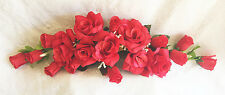 RED SWAG ~ Silk Wedding Flowers Roses Arch Gazebo Decor Centerpieces Reception