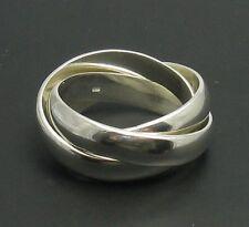 Sterling Silber Ring drei Farben Dreifachband massiv punziert 925 handgefertigt