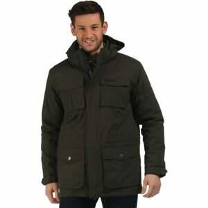 Regatta-Penkar-Mens-Waterproof-Windproof-Sherpa-Lined-Jacket-Bayleaf-Size-XXL