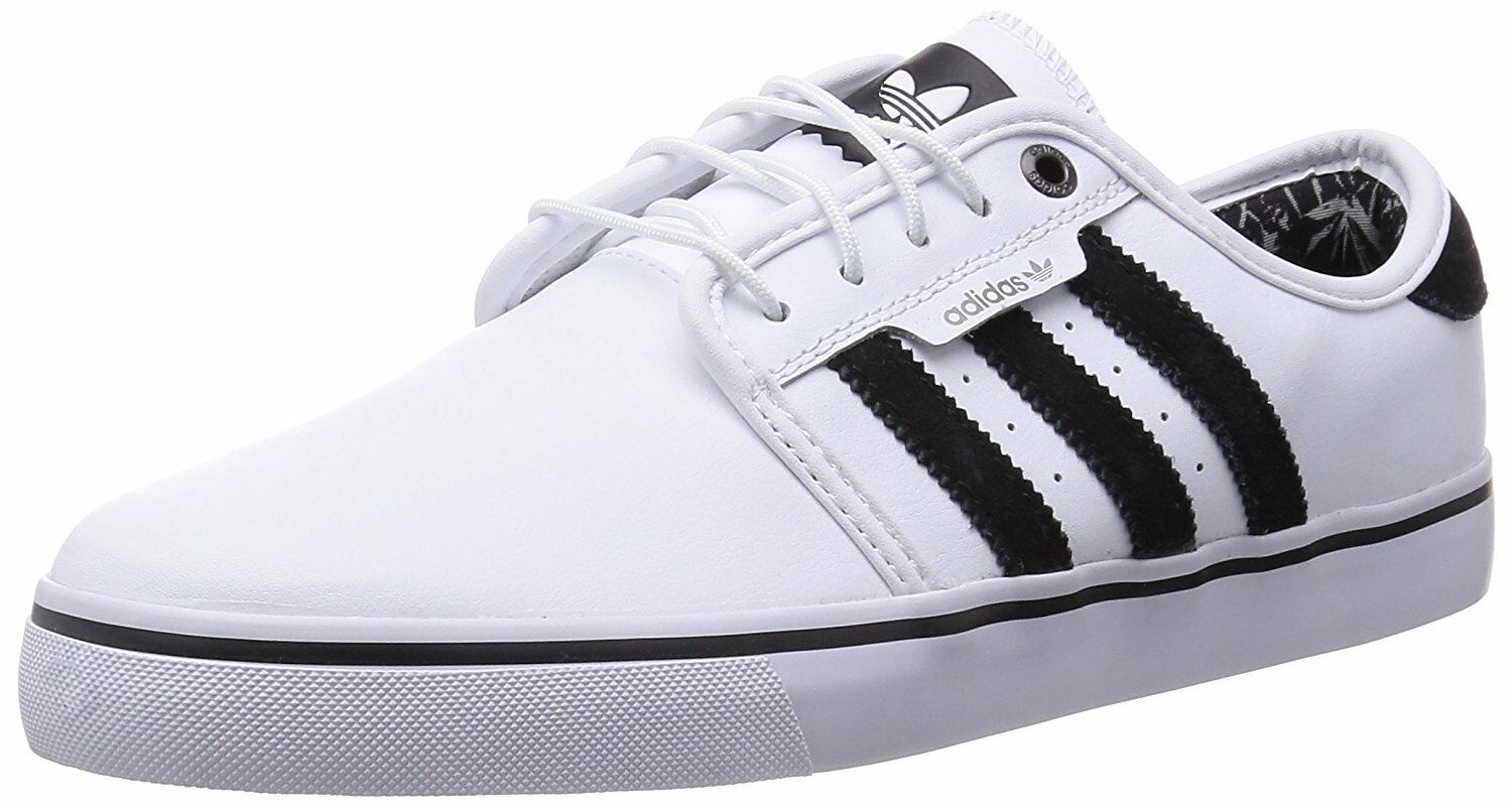 Adidas SEELEY White Black Gray Discounted Price reduction Skateboarding Men's Shoes