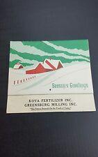 Vintage Antique Advertising Calendar Greensburg INDIANA 1971 Kova Farming