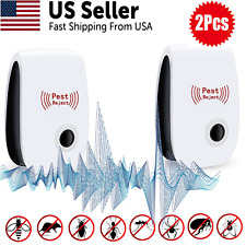 Roaches Flies UXKEOO Ultrasonic Pest Repeller 6 Pack,Pest Repellent Ultrasonic Plug in,Pest Reject Ultrasonic Repeller,Mosquito Repeller Mice Repellent Pest Control for Spider Rats Mice