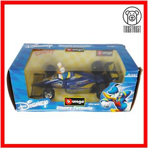 Bburago-Disney-Collection-1-24-Diecast-Coche-de-carreras-de-formula-1-Donald-Duck-Burago