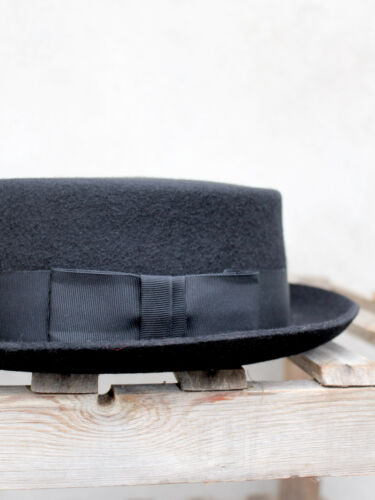 Pork Pie Hat by Christys/' Black Pork Pie Hat Wool-Felt UK Made by Christys/'