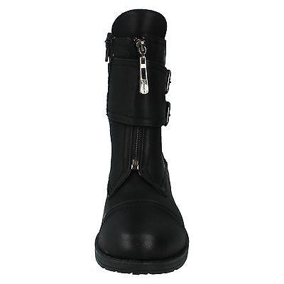 Mujer Spot On Cremallera Hebilla Casual elegante Botas De Media Caña Zapatos