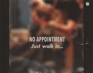 Alerte Aucune Nomination Nécessaire Coiffeurs Barbiers Shop Fenêtre Porte Autocollant Signe-afficher Le Titre D'origine