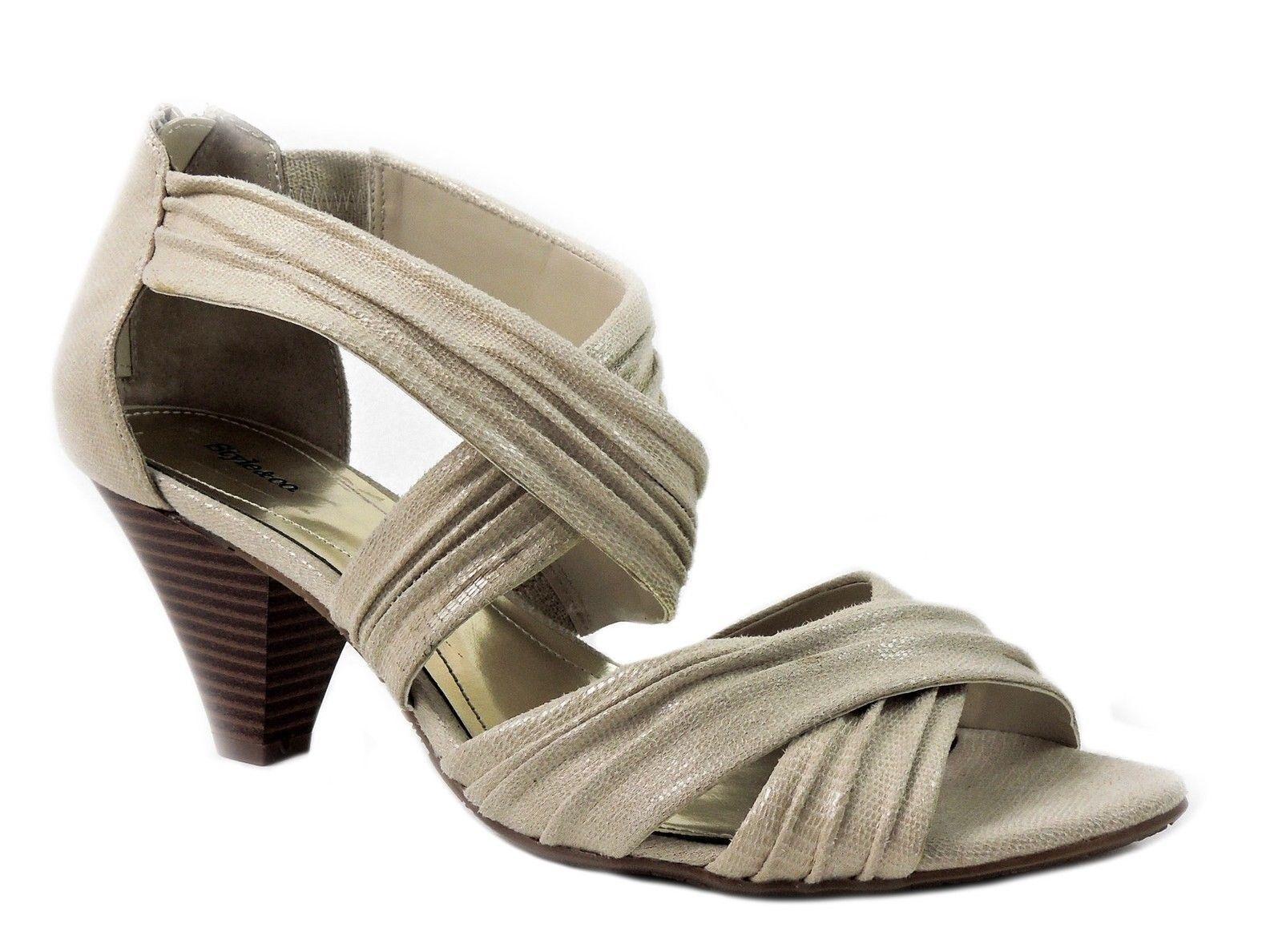 Style&co. Women's Merivale Strappy Sandals Khaki Beige Size 10 M