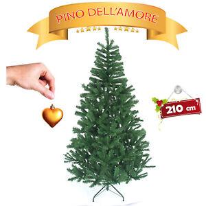 Albero Di Natale Ebay.Albero Di Natale Pino Verde Realistico Super Folto 210 Foltissimo Naturale Ebay