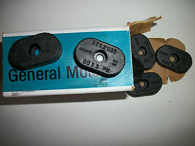 NOS GM Rubber Seat Bumpers Camaro, GTO, 442, RS, SS, Z28