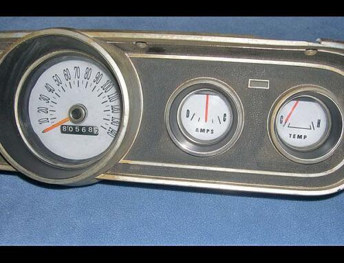 1966 Ford Mustang Rally Pack Dash Instrument Cluster White Face Gauges