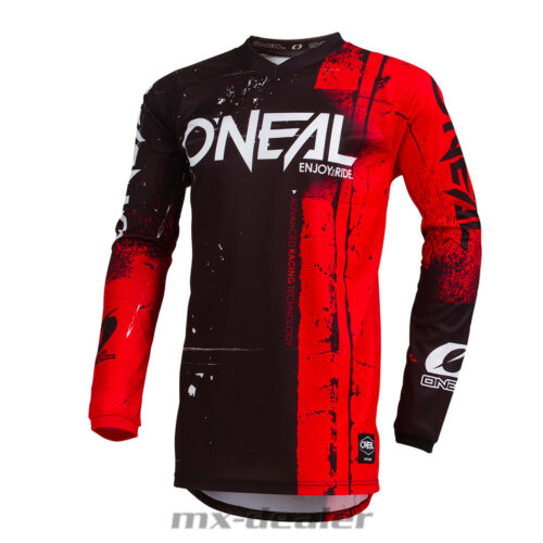 O 'Neal Element Bambini Jersey Shred ROSSO KIDS MAGLIA MX DH MTB BMX Motocross