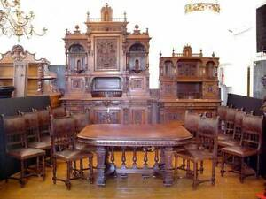 Details About The Real Deal 1840 S Genuine Victorian Antique Dining Room Set