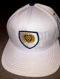watch dc02a 0ecdb Image is loading ORLANDO-CITY-FC-LIONS-Hat-Adidas-Snapback-Purple-