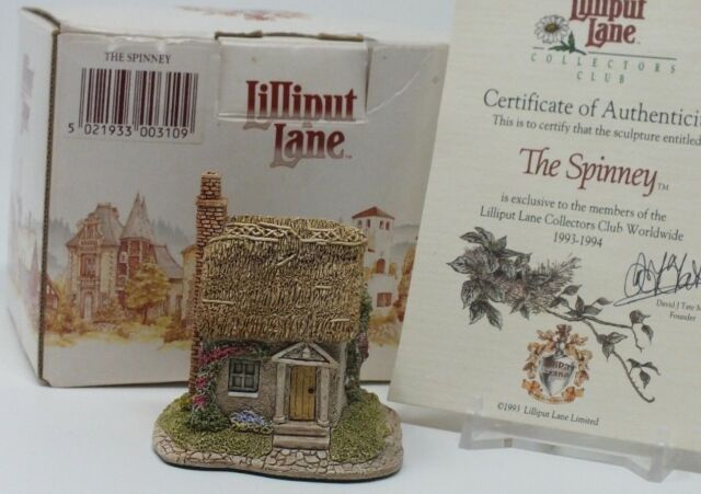 Lilliput Lane The Spinney Ornament Figurine Collectors Club Exclusive NEW