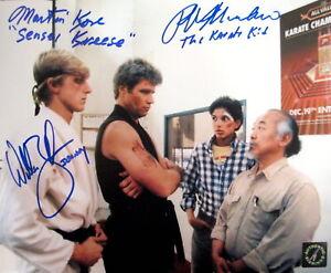 Ralph Macchio, William Zabka & Kove Autographed Karate Kid 8x10 Photo Reprint