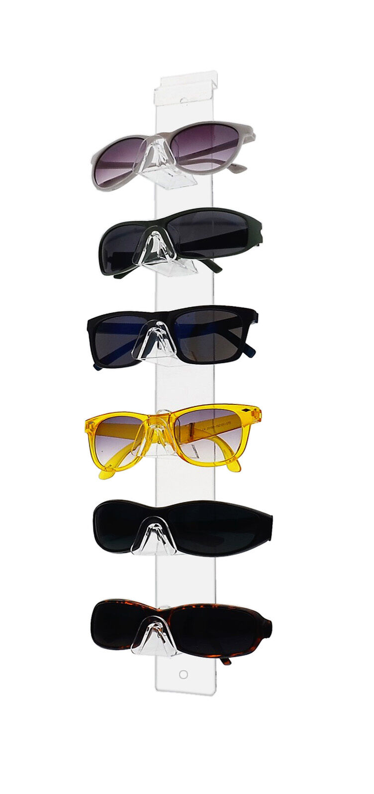 Lot of 12 Clear 6 Tier Acrylic SUNGLASSES EYEGLASSES Display Stand Slatwall