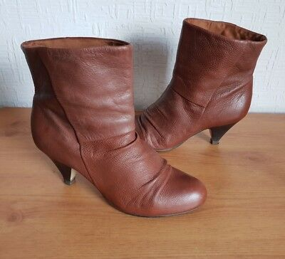 cheapest recognized brands reasonable price Women's KG by Kurt Geiger Brown Soft Leather Heeled Ankle Boots ...