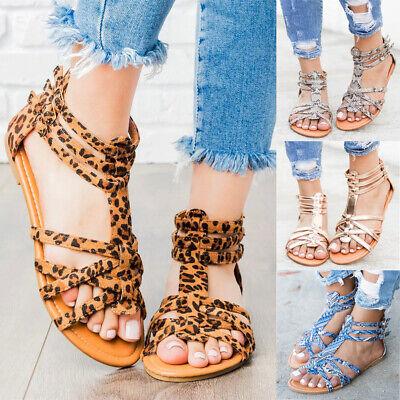 Summer Women Bohemia Clip Toe Flip Flop Sandals Beach Flats Thong Slippers Shoes