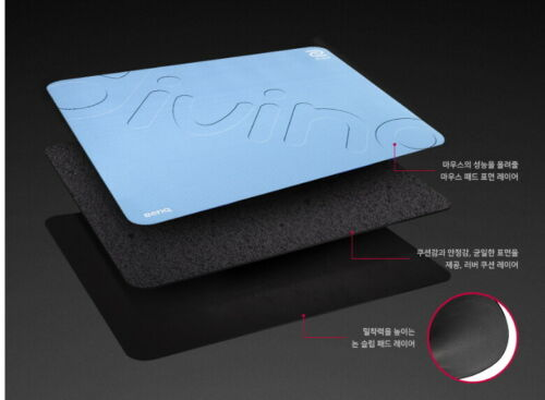 BenQ ZOWIE G-SR-SE DIVINA  Edition Gaming Mouse PAD Genuine BLUE Pink
