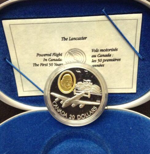 1990 Lancaster Bomber Aviation Sterling Silver $20 Coin