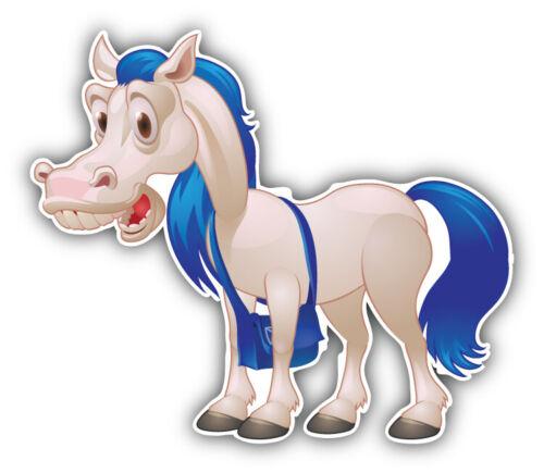 "Funny Horse Cartoon Car Bumper Sticker Decal /""SIZES/'/'"