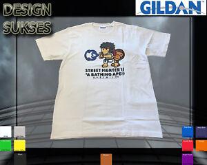 2c128a3b2 NEW POPULAR Bape A Bathing Ape x Street Fighter T-shirt White SIZE S ...