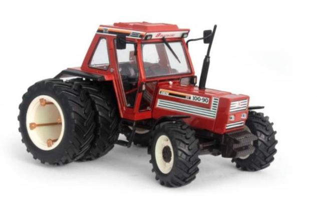 Replicagri Fiat 100-90 Avec Arrière Dual Wheels 1 32 Modèle À L'échelle Tracteur (En parfait état, dans sa boîte)