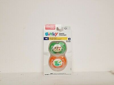 Newborn 2 Pack Playtex Silicone Binky Pacifiers 0-6 Months