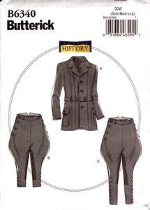 Butterick-Pattern-B6340-6340-Making-History-Men-Jacket-Breeches-Jodhpurs-S-L
